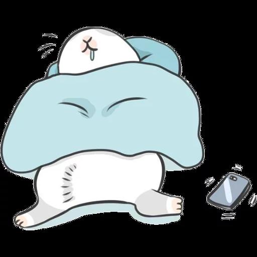 ㄇㄚˊ幾兔16 Tired, 自己 - Sticker 5