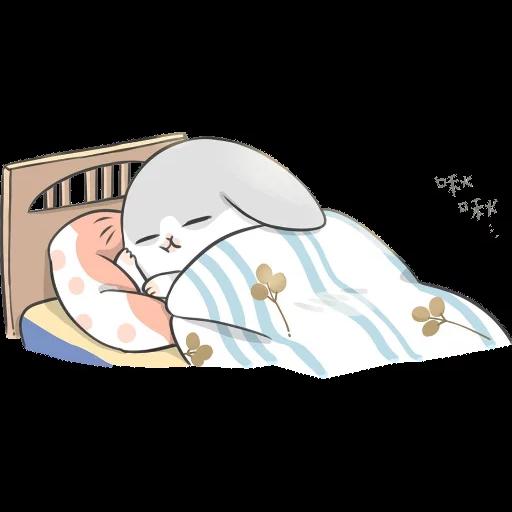 ㄇㄚˊ幾兔16 Tired, 自己 - Sticker 14