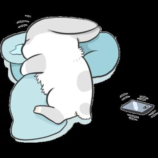 ㄇㄚˊ幾兔16 Tired, 自己 - Sticker 16