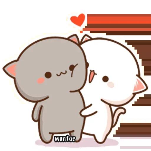 Peach Cat 2 - Sticker 1