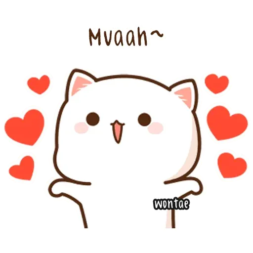 Peach Cat 2 - Sticker 25