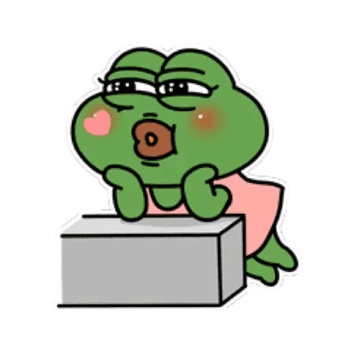 Cute Pepe - Sticker 3