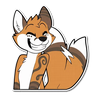 Furry Yanick - Tray Sticker