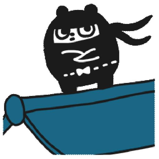 Ninja Bear - Tray Sticker
