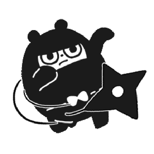 Ninja Bear - Sticker 1
