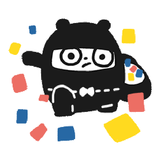 Ninja Bear - Sticker 3