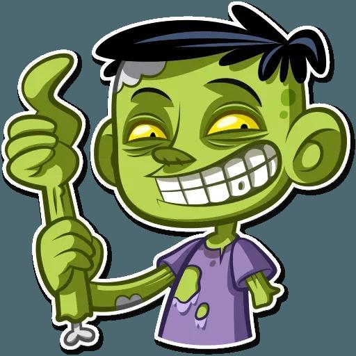 Zombie - Tray Sticker