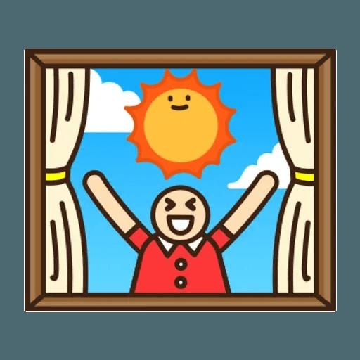 舉牌小人 - 動感日常篇 - Sticker 7