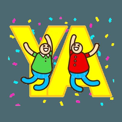 舉牌小人 - 動感日常篇 - Sticker 8