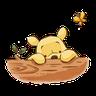 winnie the pooh 1 - Tray Sticker