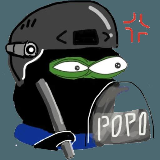 Pepe fighting HKG2 - Sticker 9