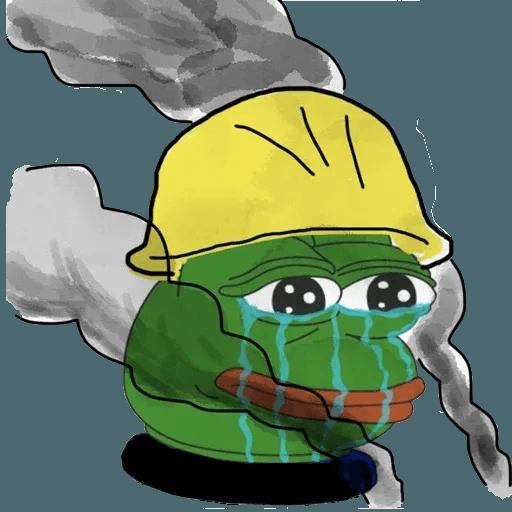 Pepe fighting HKG2 - Tray Sticker