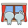 Spoiled Rabbit Winter - Tray Sticker