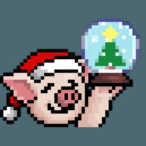 LIHKG PigXmas - Sticker 7