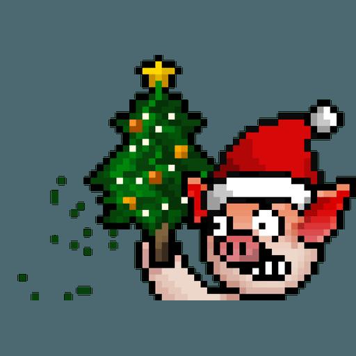 LIHKG PigXmas - Sticker 10