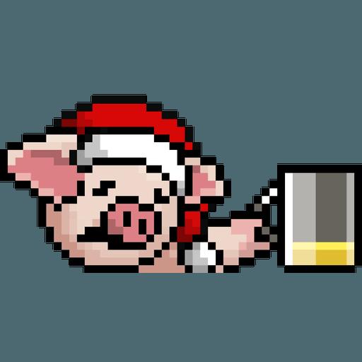 LIHKG PigXmas - Sticker 9