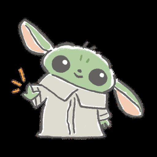 BB Yoda - Tray Sticker