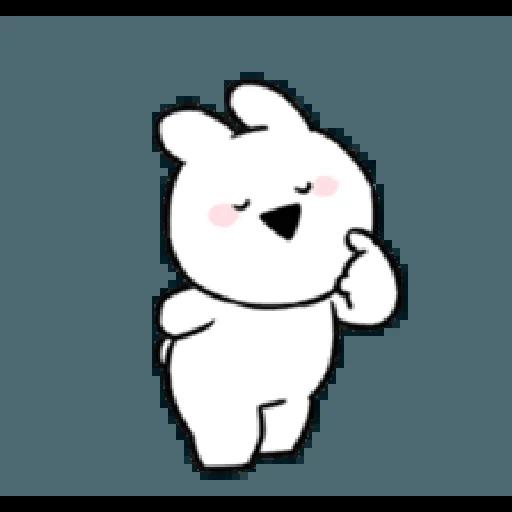Extremely little rabbit & bear - Tray Sticker