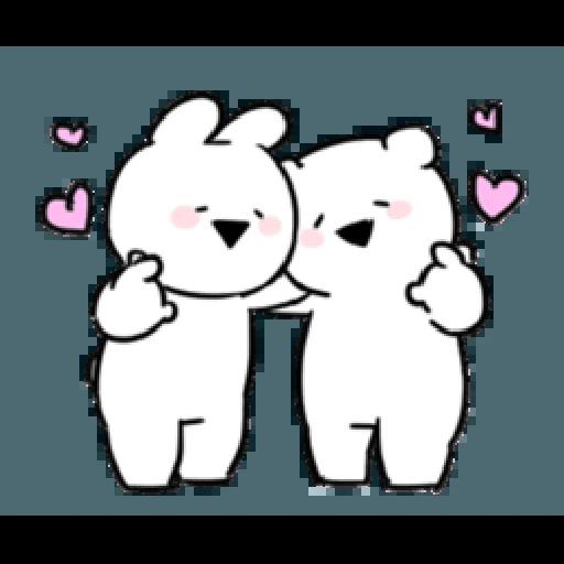 Extremely little rabbit & bear - Sticker 4