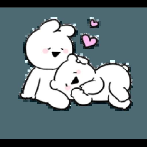 Extremely little rabbit & bear - Sticker 5