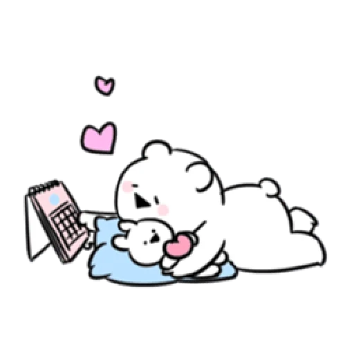 Extremely little rabbit & bear - Sticker 7