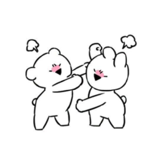 Extremely little rabbit & bear - Sticker 9