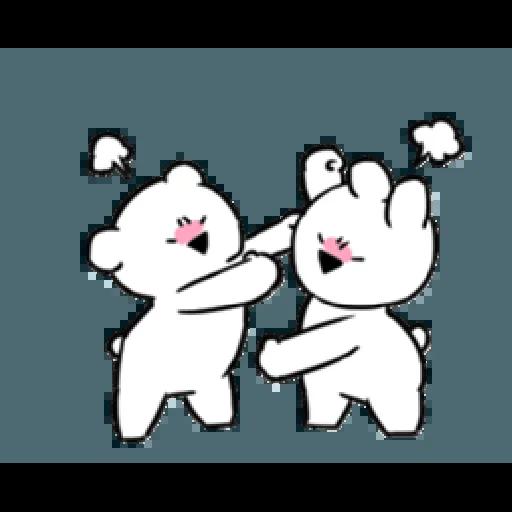 Extremely little rabbit & bear - Sticker 9