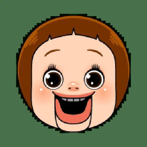 Sho chan doll head 1 - Tray Sticker