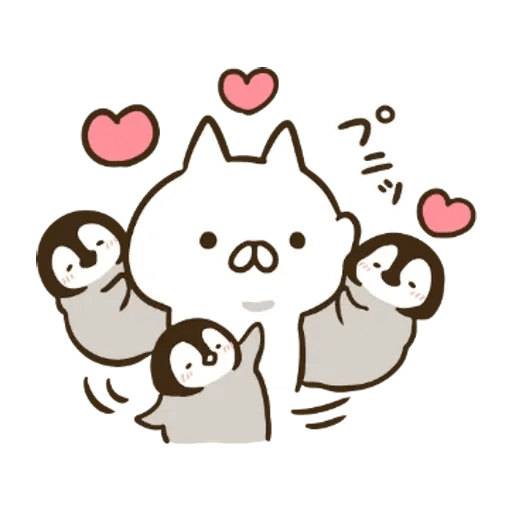 ねこぺん日和 x Line News - Sticker 4