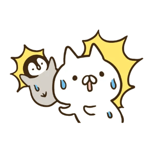 ねこぺん日和 x Line News - Sticker 15