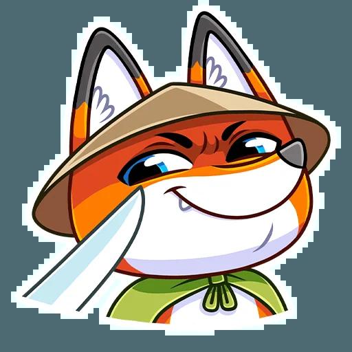 Samurai Fox - Sticker 6
