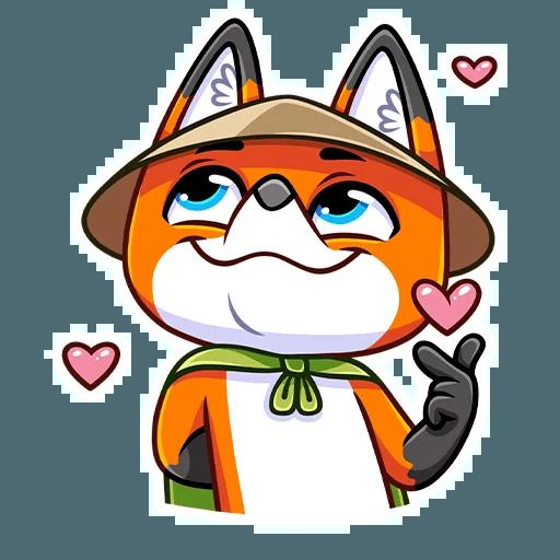 Samurai Fox - Sticker 2