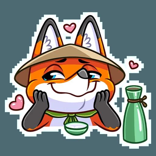 Samurai Fox - Sticker 23
