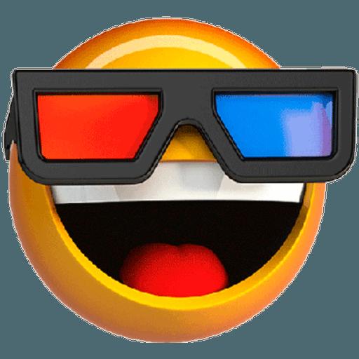 3D emoticons - Tray Sticker