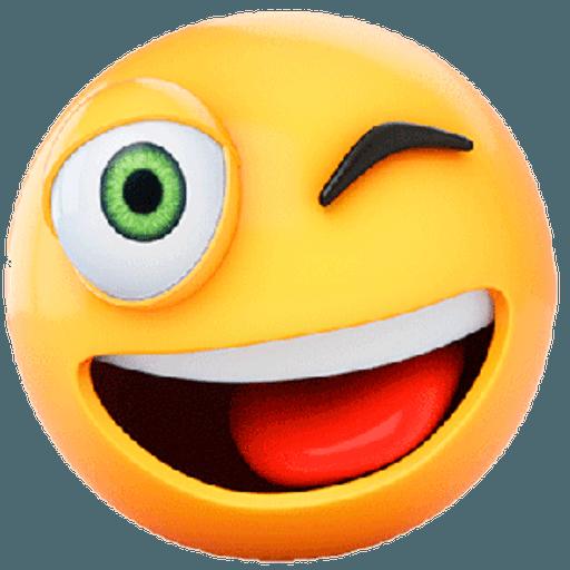 3D emoticons - Sticker 9