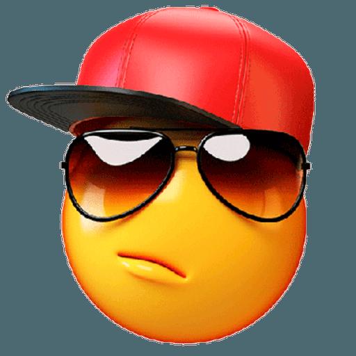 3D emoticons - Sticker 15