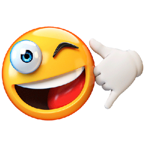 3D emoticons - Sticker 10