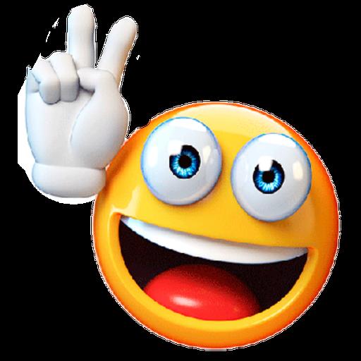 3D emoticons - Sticker 16