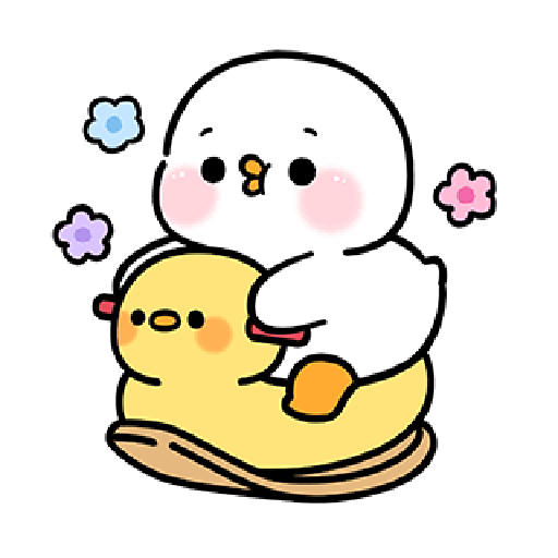 Cute and lively ducks - Sticker 9