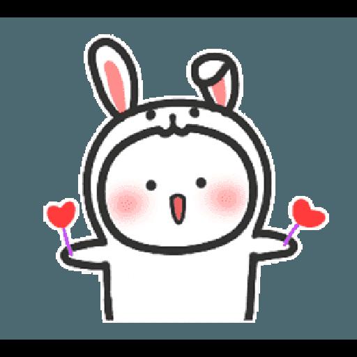 Happy baby rabbit's daily life - Tray Sticker