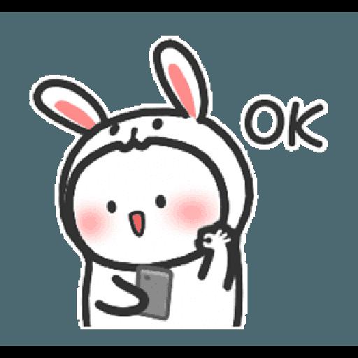 Happy baby rabbit's daily life - Sticker 14