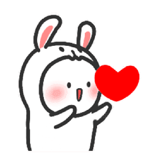 Happy baby rabbit's daily life - Sticker 20