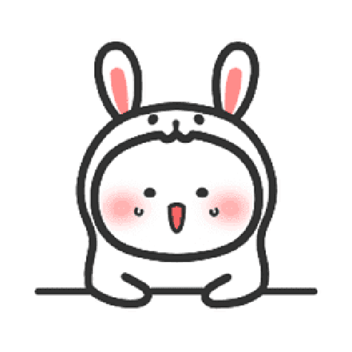 Happy baby rabbit's daily life - Sticker 1
