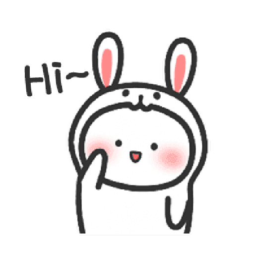 Happy baby rabbit's daily life - Sticker 15