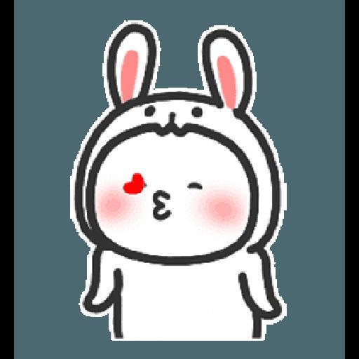 Happy baby rabbit's daily life - Sticker 24
