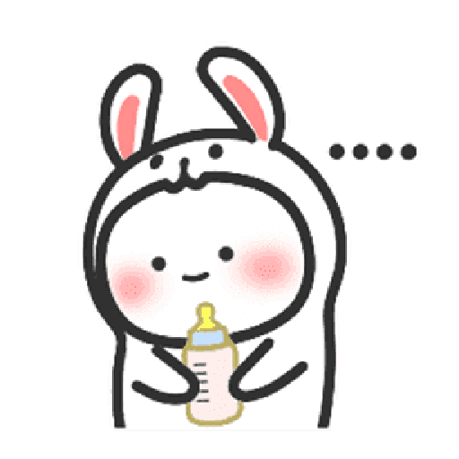 Happy baby rabbit's daily life - Sticker 2