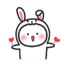 Happy baby rabbit's daily life - Tray Sticker