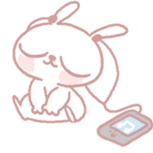 Drawn Bunny - Sticker 28