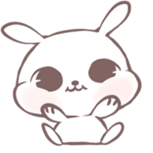 Drawn Bunny - Sticker 19