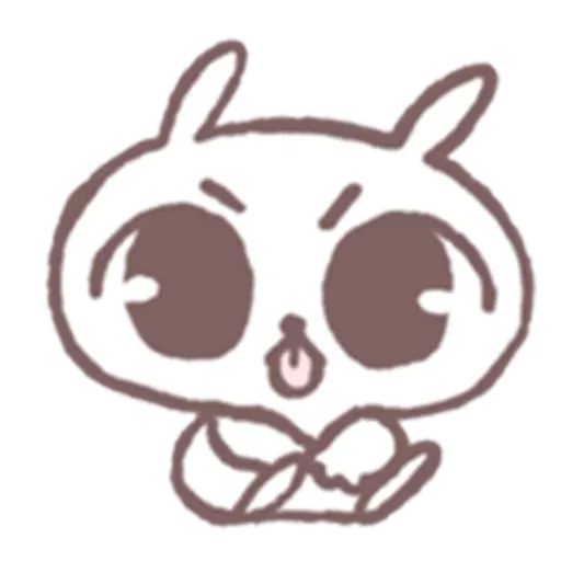 Drawn Bunny - Sticker 6